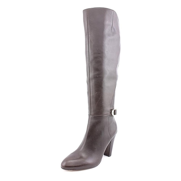 Marc Fisher Womens Shayna Leather Almond Toe Knee High Fashion Boots