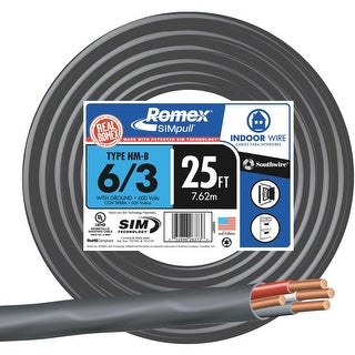 Southwire 25 6-3 Nmw/G Wire
