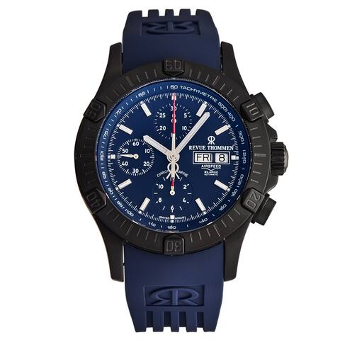 Revue Thommen Men's 16071.6876 'Airspeed' Blue Dial Day-Date Chronograph Automatic Watch