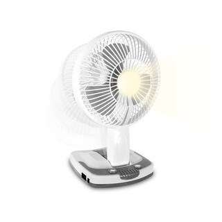"Link to TPro 9"" Personal Fan with Wall-Mount Option, LED Lamp, Powerbank Similar Items in Optics & Binoculars"