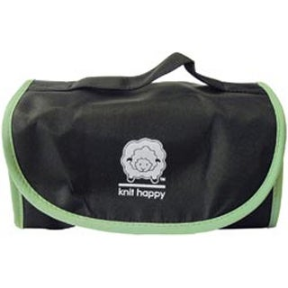 "20""X8.25""X2.5"" Black & Green - Knit Happy Fold N Go Notions Box"