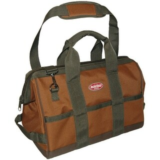 Bucket Boss 60016 Gatemouth Tool Bag, Tan & Green
