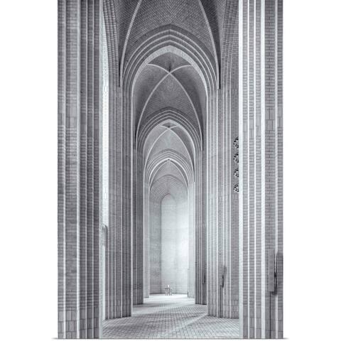 """""""Grundtvigs Kirke"""" Poster Print"""