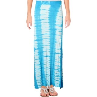 Romeo & Juliet Couture Womens Maxi Skirt Tie-Dye Side Slit