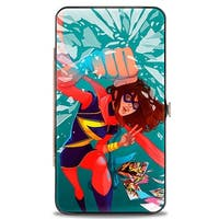 Marvel Universe Ms. Marvel Crushed #1 Cover Action Pose Hinged Wallet  One Size - One Size Fits most