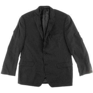 Calvin Klein Mens Wool Pinstripe Two-Button Blazer - 44R