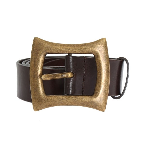 Dolce & Gabbana Brown Leather Gold Buckle Belt - 95-cm-38-inches