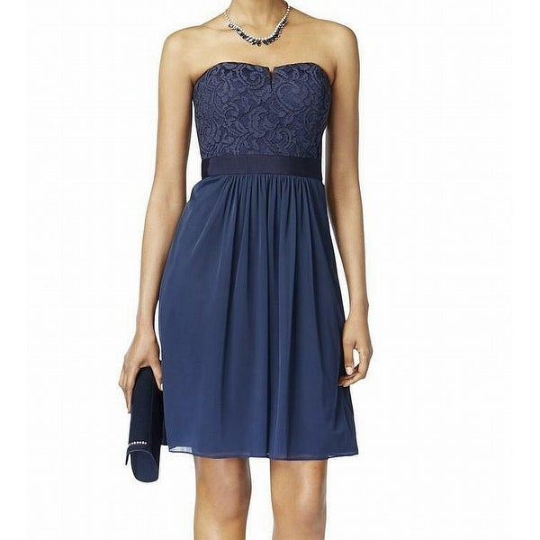 Adrianna Papell Blue Women's Size 16 Strapless