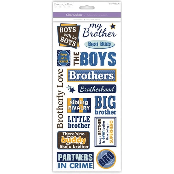 Multicraft Family & Friends Clear Stickers-Brother