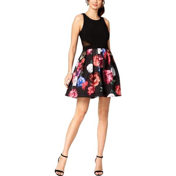 Shop Xscape Womens Petites Party Dress Floral Fit Amp Flare
