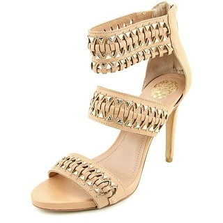 Vince Camuto Fancle Women Open Toe Leather Nude Sandals