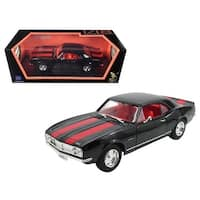 1967 Chevrolet Camaro Z/28 Black with Red Stripes 1/18 Diecast Model Car by Road Signature