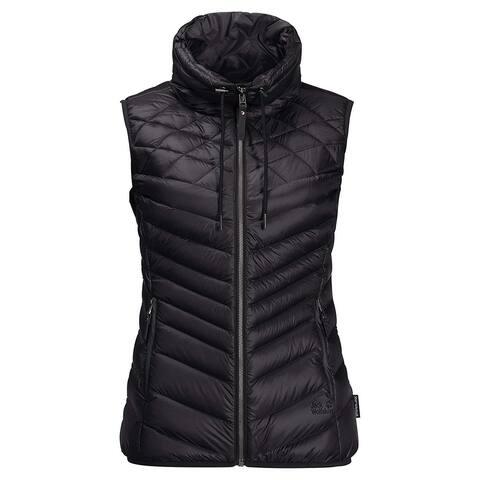 Jack Wolfskin Women's Jacket Black Size XXL Plus Full-Zip Quilt Vest