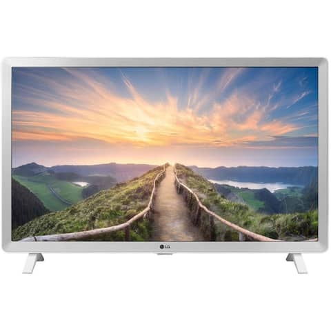 """LG 24LM520D-WU 1366 x 768 24"""" LCD HDR TV,White - White - 13.4 x 22.2 x 2.4 Inches (Without Stand)"""