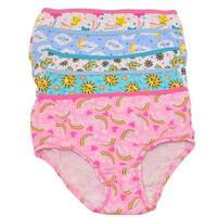 1000% Cute Little Girls Multi Color Rainbow Print 5 Pc Brief Underwear Pack