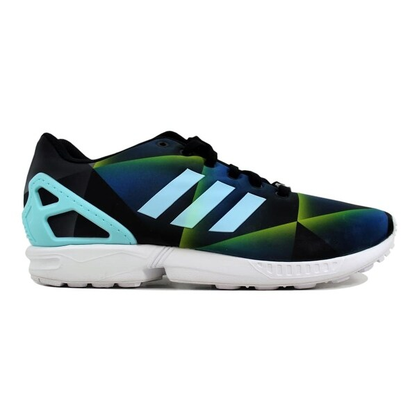 1511f2bb60c4e Shop Adidas Men s ZX Flux White Aqua-Black B34516 Size 13 - On Sale ...