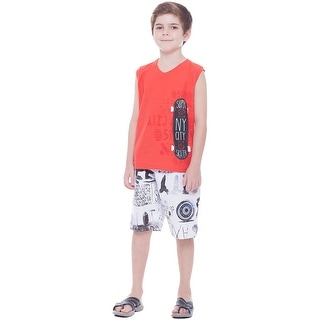 Boys Outfit Tank Top Muscle Shirt and Shorts 2pc Set Kids 2-10 Years Pulla Bulla