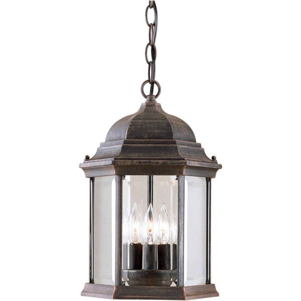 Forte Lighting 1711-03 Outdoor Pendant from the Exterior Lighting Collection - painted rust - n/a