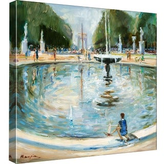 """PTM Images 9-97745  PTM Canvas Collection 12"""" x 12"""" - """"Parisian Afternoon II"""" Giclee Paris Art Print on Canvas"""