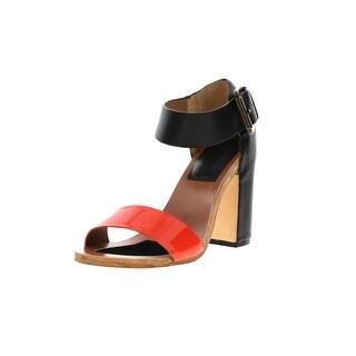 FIEL Womens Kea Leather Patent Heels - 8 medium (b,m)