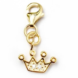 Julieta Jewelry Crown CZ Clip-On Charm