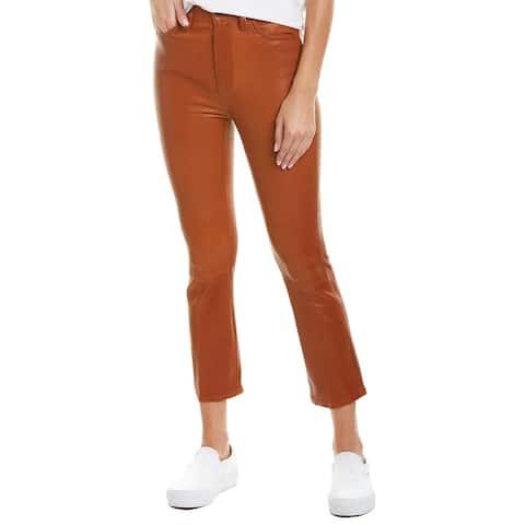 Joe's Jeans Cognac Leather Cropped Bootcut