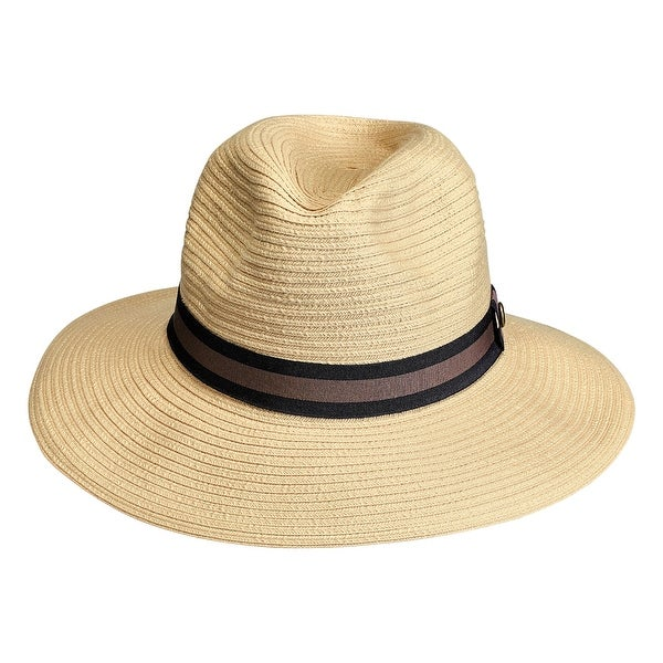 b696a2defa6 Shop Principle Plastics Men s Braided Sun Hat with Band - SPF 50+ - One  size - Free Shipping On Orders Over  45 - Overstock.com - 27342873