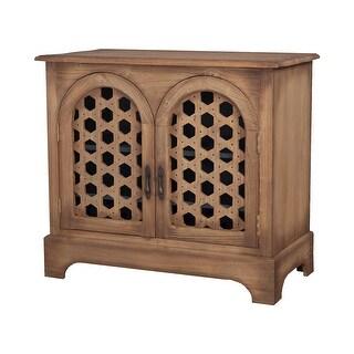 "GuildMaster 645071HO  Honeycomb 40"" Wide Hand Carved Mahogany Sideboard - Honey Oak"