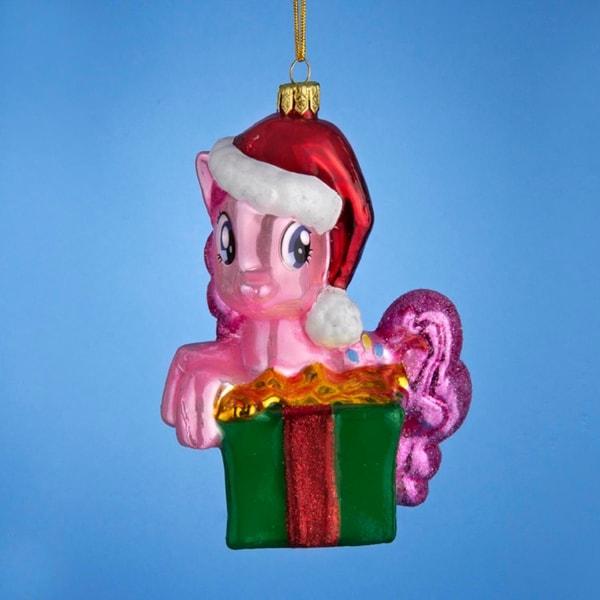 """4.75"""" My Little Pony Glass Pinkie Pie Decorative Christmas Ornament"""