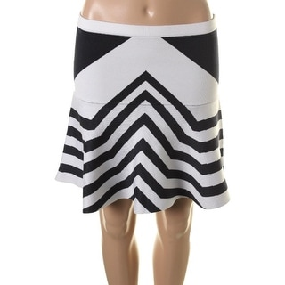 Parker Womens Flare Skirt Chevron Above Knee - S