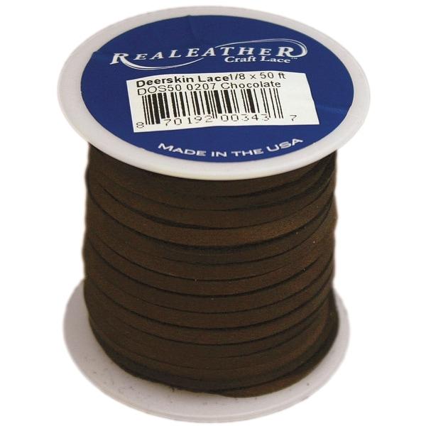 """Deerskin Lace .125""""X50' Spool-Chocolate - brown"""