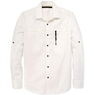 Sean John NEW White Ivory Cream Mens Size 2XL Button Down Woven Shirt