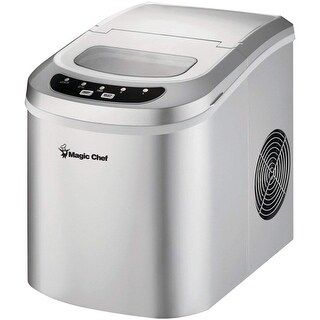 Ice Maker, 27 Lbs/Day, Portable, Silver