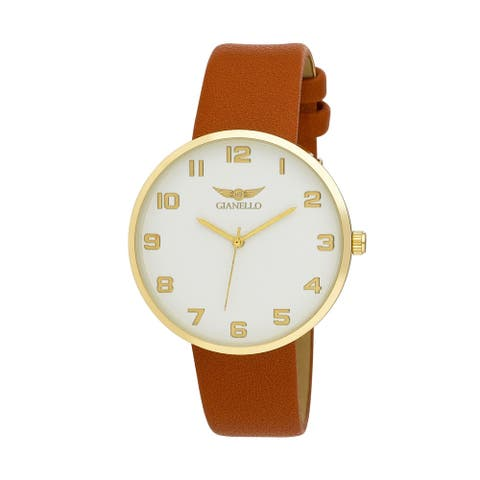 4 Colors Available- Gianello Mens Round Case Milan Strap Watch