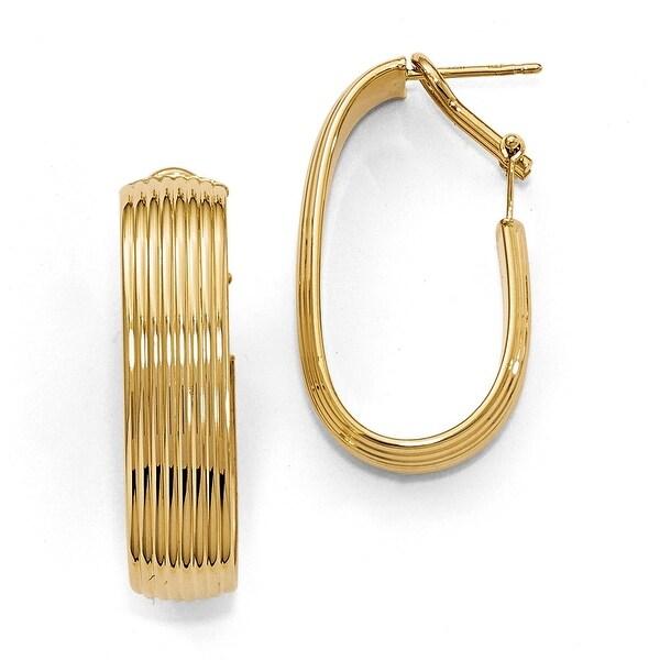 Italian 14k Gold Polished Hoop Earrings