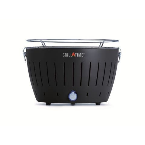 Grill time 12.5 in. Tailgater GT Charcoal Grill Gray - 14.8 x 14.7 x 10.7
