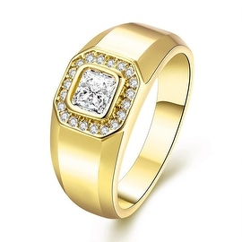 Pure Gold Cut Crystal Ring