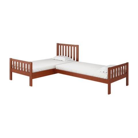 Aurora Wood Twin Corner Bed
