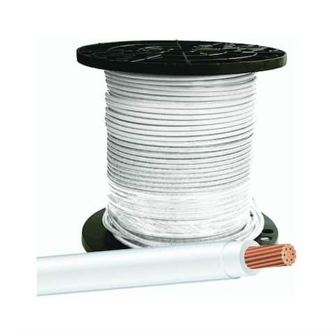 Southwire 20489112 Type THHN 8 Stranded Building Wire, White, 500'
