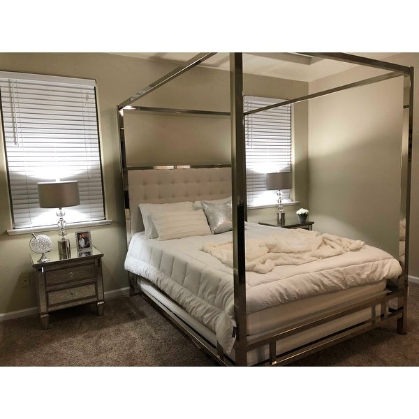 22733fae49dc Top Product Reviews for Solivita Queen-size Chrome Metal Poster Bed ...