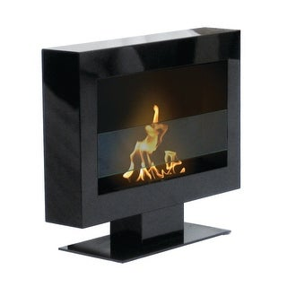 Tribeca II (Black) Floor Standing Bio Ethanol Ventless Fireplace