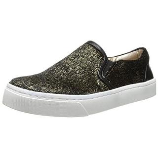 Luichiny Womens Faux Fur Metallic Fashion Sneakers - 9 medium (b,m)