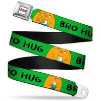 Adventure Time Logo White Full Color Finn & Jake Bro Hug Grass Webbing Seatbelt Belt