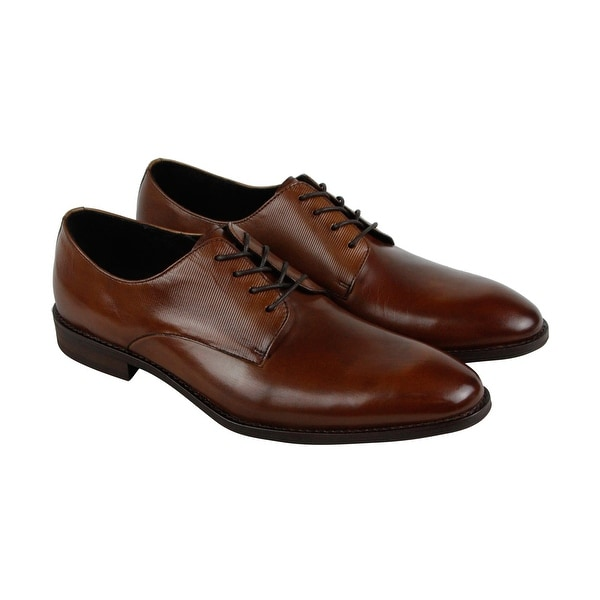 Kenneth Cole New York Courage Mens Brown Leather Casual Dress Oxfords Shoes