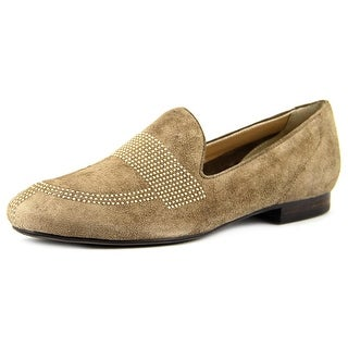 Vaneli Fawne Women Round Toe Suede Tan Loafer