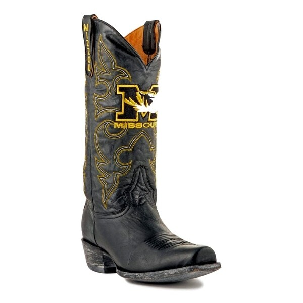 Gameday Boots Mens College Team Missouri Tigers Black