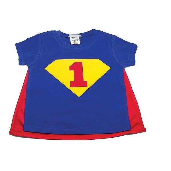Shop Reflectionz Red Blue Super Boy Cape Birthday T Shirt Boys 12M 3T