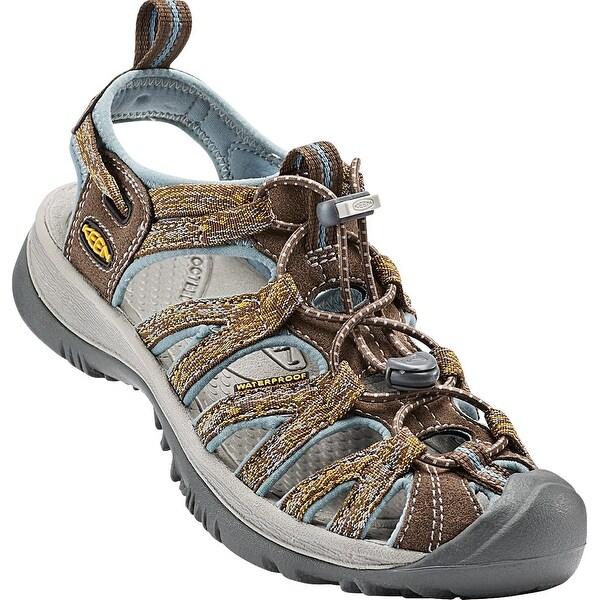 Keen Whisper Women Sandal, Water Shoe, Cascade/Stone Blue