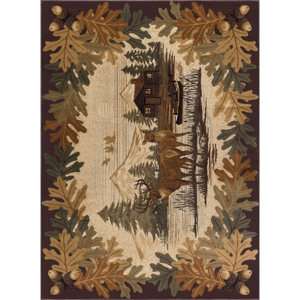 Alise Rugs Natural Lodge Novelty Lodge Area Rug. Opens flyout.