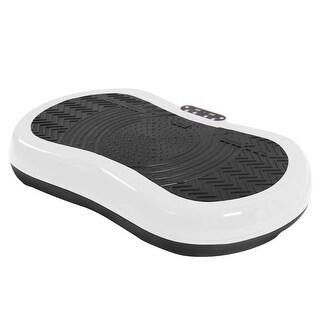 Gymax Ultrathin Mini Crazy Fit Vibration Platform Massage Machine White